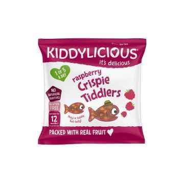 KIDDYLICIOUS Crispy Tiddlers rybičky křupavé malinové 12 g