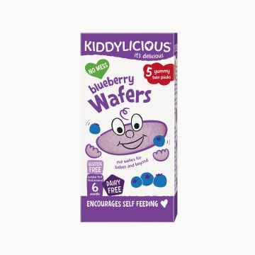 KIDDYLICIOUS Wafers Mini blueberry oplatky borůvkové mini 5x4 g