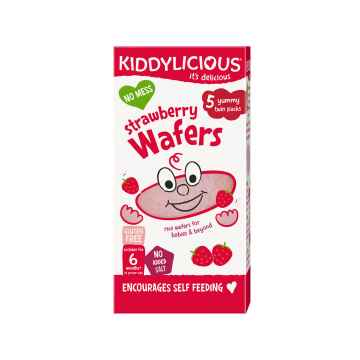 KIDDYLICIOUS Wafers Mini strawberry oplatky jahodové mini 5x4 g