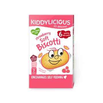 KIDDYLICIOUS Soft Biscotti sušenky měkké jahodové 20 g