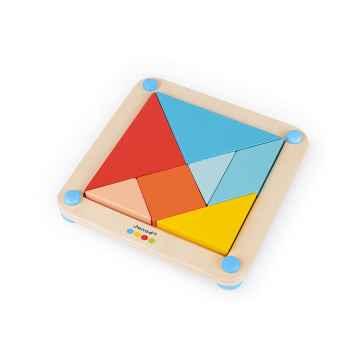 Janod Dřevěná hračka Origami Tangram s předlohami série Montessori 25 karet