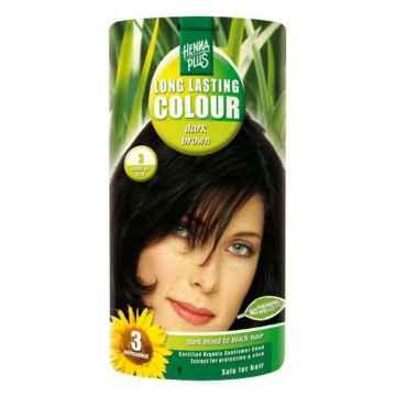 Henna Plus Dlouhotrvající barva Tmavě hnědá 3 100 ml