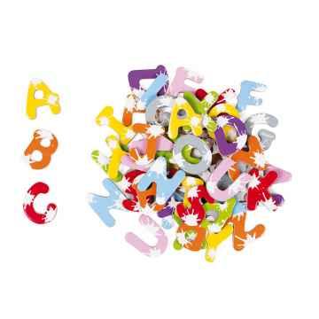 Janod Dřevěné magnetky abeceda Splash od 3 do 8 let 52 písmen