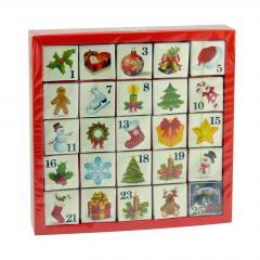 English Tea Shop Adventní kalendář Vánoční ozdoby 25 ks, 50 g