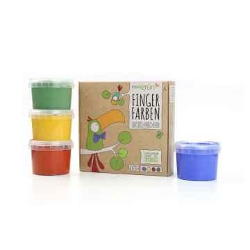 neogrün Fingerfarbe 4er Set AKI sada prstových barev 4x120 g