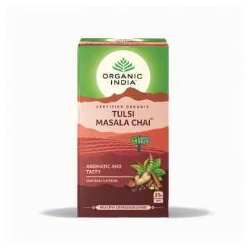 Organic India Čaj Tulsi Chai Masala, porcovaný 25 ks, 43,5 g