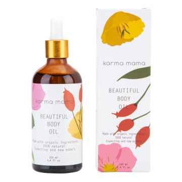karma mama Beatiful Body Oil Tělový olej pro nastávající a čerstvé maminky 100 ml