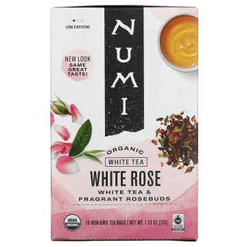 Numi Organic Tea White Rose, bílý čaj 32 g, 16 ks