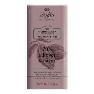 Dolfin Čokoláda hořká s kakaovými boby 70 g