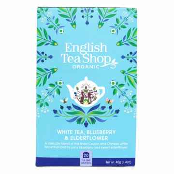 English Tea Shop Bílý čaj borůvka a bezový květ, bio 30 g, 20 ks