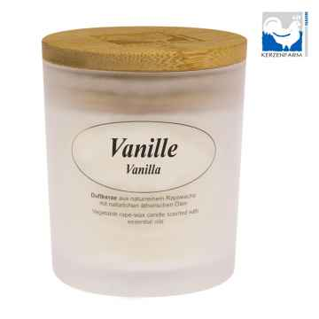 Kerzenfarm Přírodní svíčka Vanilla, mléčné sklo 1 ks, 8 cm