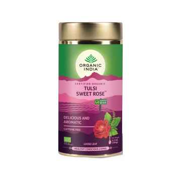 Organic India Čaj Tulsi Sweet Rose, sypaný 100 g
