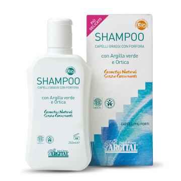 Argital Šampon na mastné vlasy proti lupům s kopřivou 250 ml