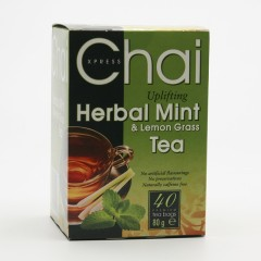 Fudco Čaj máta a citronová tráva 40 ks, 80 g