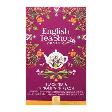English Tea Shop Černý čaj zázvor a broskev, bio 40 g, 20 ks