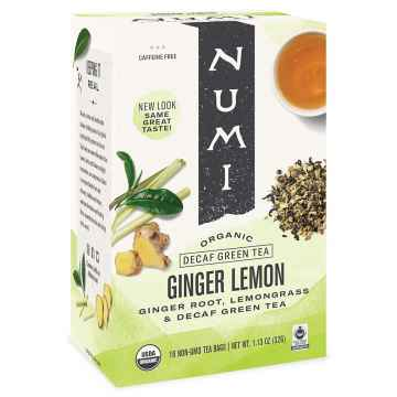 Numi Zelený čaj Decaf Ginger Lemon 32 g, 16 ks