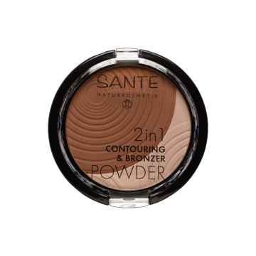 SANTE Konturující a bronzující pudr 2v1 02, medium-dark 9 g