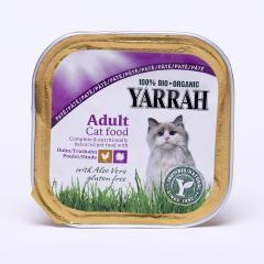 Yarrah Paté pro kočky kuřecí a krůtí s aloe vera, Wellness 100 g
