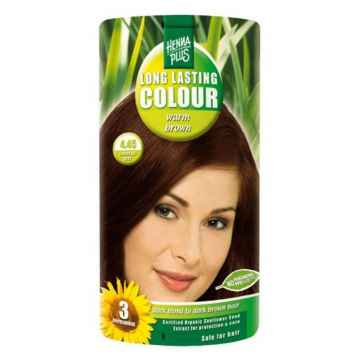 Henna Plus Dlouhotrvající barva Hřejivě hnědá 4.45 100 ml