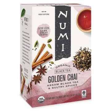 Numi Organic Tea Černý čaj Golden Chai 46,8 g, 18 ks