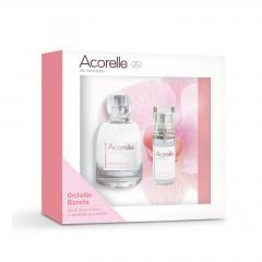 Acorelle Toaletní voda Bílá orchidej, dárkový set 50 ml + 15 ml ZDARMA