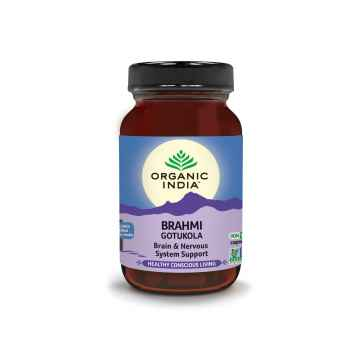 1x Organic India Brahmi, kapsle 60 ks