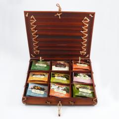 Numi Organic Tea Dárková kazeta bambusová, mix čajů 90 g, 45 ks