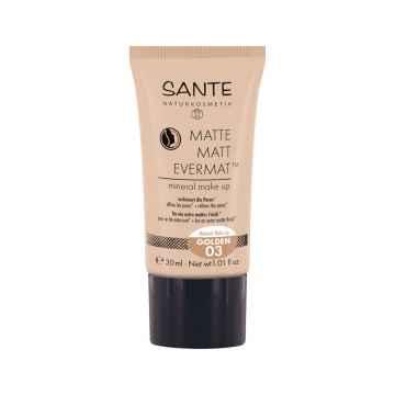 Matující make-up 03, zlatá 30 ml