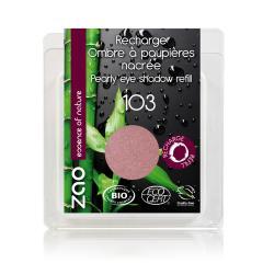 ZAO Třpytivé oční stíny 103 Pearly Old Pink 3 g náplň