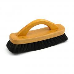 Redecker Lešticí kartáč na boty z bukového dřeva s rukojetí, tmavý 1 ks, 21 cm