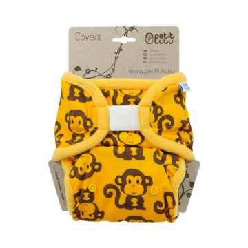 Petit Lulu Svrchní kalhotky 1 ks, žluté opičky