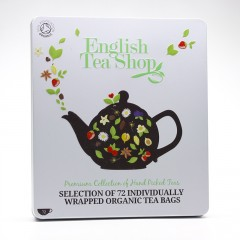 English Tea Shop Dárková sada čajů English Tea Shop, plechová kazeta, bio 132 g, 72 ks