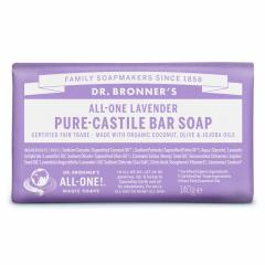 Dr. Bronner's Tuhé mýdlo Lavender 140 g
