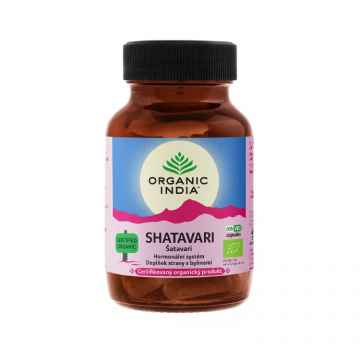 Organic India Šatavari, kapsle 60 ks
