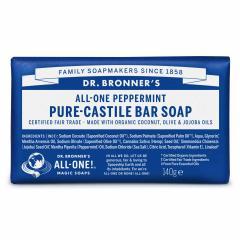 Dr. Bronner´s Tuhé mýdlo Peppermint 140 g