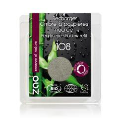 ZAO Třpytivé oční stíny 108 Pearly Gray Green 3 g náplň