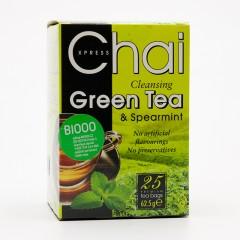 Fudco Čaj zelený s mátou 25 ks, 62,5 g
