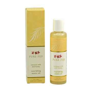 Pure Fiji Exotický masážní a koupelový olej, mléko & med 90 ml