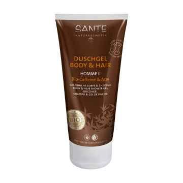 SANTE Šampon a sprchový gel bio, Homme Kofein & Acai 200 ml