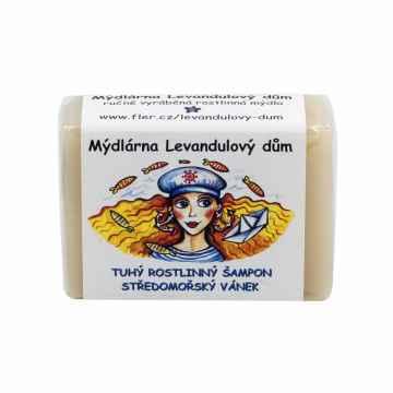 Mýdlárna Levandulový dům Tuhý šampon Středomořský vánek 120 g