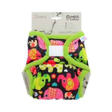 Petit Lulu Svrchní kalhotky 1 ks, růžoví sloníci