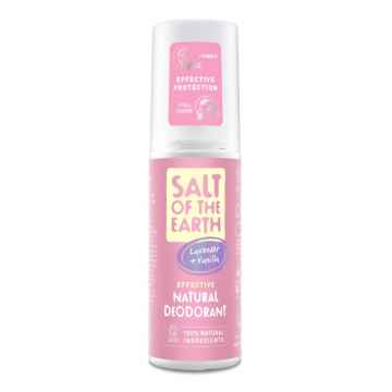 Salt of the Earth Deo sprej levandule a vanilka, Pure Aura 100 ml