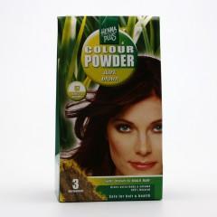 Henna Plus Přírodní prášková barva Tmavě hnědá 57 100 g