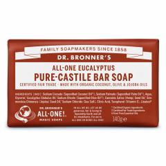 Dr. Bronner's Tuhé mýdlo Eukalyptus 140 g