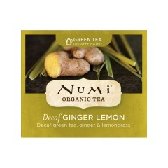 Numi Organic Tea Zelený čaj Decaf Ginger Lemon 2 g, 1 ks
