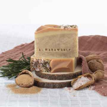 Almara Soap Peelingové mýdlo Walnut 90 ± 5 g