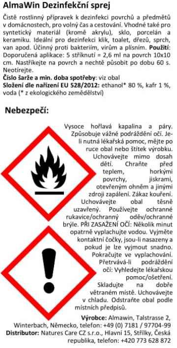 AlmaWin Dezinfekční sprej 250 ml
