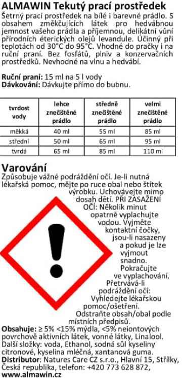 AlmaWin Prací prostředek tekutý 750 ml