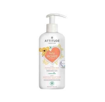 Attitude Dětské tělové mýdlo a šampon hruška, Baby leaves 473 ml