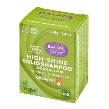 Balade en Provence BIO Pečující tuhý šampon pro vysoký lesk citrus 40 g